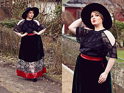 Luciana Blümlein - Lu Zieht An X Mable Skirt, Mable Top, Vince Camuto Boots, Zara Hat, Chanel Earrings, Hermès Bracelet - • Lu zieht an x mable | Witchcraft •