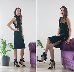 Miha Teicu - Green Velvet Dress - Green velvet