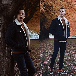 Franko Dean - Gap Denim Jacket, Cat Footwear Sole Shoes, Topman Sweater, Boohoo Jeans - Leaves are FALLing