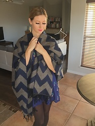 Cindy Batchelor - Amazon Chic Chevron Striped Poncho - Chic Chevron Striped Poncho