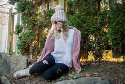 BG by Christina L - Forever 21 Pink Faux Shearling Jacket, Bearpaw Pewter Boots - Pink Faux Shearling Jacket