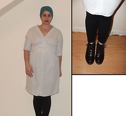 Selina M - Beyond Retro Teal Turban, Beyond Retro Altered Sparkly Dress, Doc Martens Emmeline Boots - Not too shabby methinks