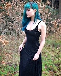 Zhia De Cocq - Black Milk Clothing Burned Velvet Dress - Black velvet maxid ress goodness