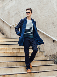 Anton Dee - Jaeger Jumper, Jaeger Trousers, Jaeger Coat - Jaeger Lookbook 2