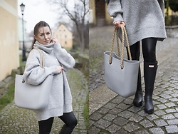 Klaudia Bembenik - Obag, Elen Store Sweaters, Hunter - #AUTUMN: oBag + Hunter