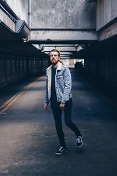 Ian Reynolds - Levi's® Denim Jacket, Asos Green Jumper, Asos Black Skinnies, Vans - Walking away from winter