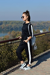 Marija M. - Zaful Sweatshirt, Zaful Sweatpants, Adidas Stella Mccartney X - Sweats set
