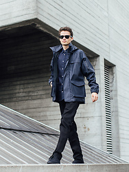 Anton Dee - Topman Shirt, Ray Ban Glasses, Jaeger Coat - Jaeger Lookbook 4