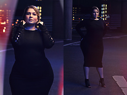 Luciana Blümlein - H&M Dress, Zara High Heels, Dior Earrings - • Night Lights •