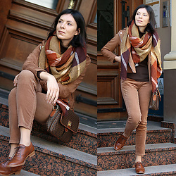 Minimalissmo .. - Rosegal Shawl, Celine Vintage Bag - Warm colors of the fall