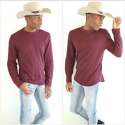 Thomas G - Hydraulic Extreme Slim Nikki, Gap Long Sleeved Shirt, Golden Gate Hat Co. Little Joe Cowboy, Contributing Writer At Virily, Pinterest, Website: Heart Of The Midwest - A tip to my Lookbook regulars 😉