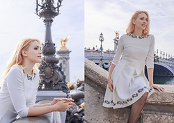 Eleonora Albrecht - Caterina Pervinca White Dress - A white dress in Paris