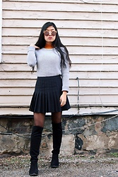 Jenny Ruan - Urban Outfitters Skirt, Calvin Klein Sweater, American Apparel Turtleneck, Macy's Boots - Warm January