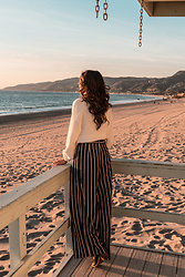 K-laa White - Forever 21 Striped Wide Leg Pant, Forever 21 Mock Neck Sweater - Lets runaway..