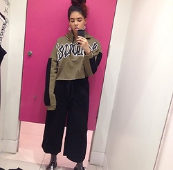 Megan Marshall - Topshop Hoody, Zara Culottes, Dr. Martens Shoes - In oxford street