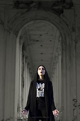 Ellone Andreea - Blackcraft Cult Graphic T Shirt, H&M Hooded Cardigan, H&M Skinny Jeans - Moon Child