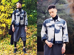 Chris Su - Cheap Monday Denim Jacket, 5cm Pants, Nike Vapor Max Sneakers - Japan Rain