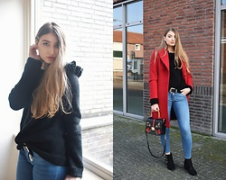 Paulina Kędzierska - Sweater, Coat, Jeans - Everyday look