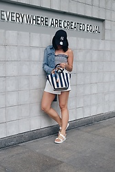 Cassey Cakes - Zara Top, Mango Denim Jacket, Aldo Sandals - Equality