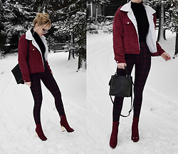 Endzel - Romwe Jacket, Romwe Turtleneck, Romwe Sunglasses, Fashionnova Bag, Shoes, Topshop Leggins - Let it go
