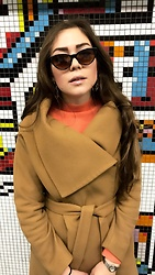 Marlena Laura @marlenalaura - Primark Shades, Kappahl Earrings, Kappahl Sweater, Lavard Coat - Tube
