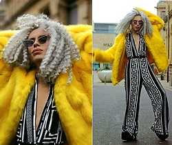 Milex X - Christin Roth Sunglasses, Girlmerry Jacket, Zaful Jumpsuit - 70's ALL OVER
