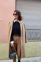 Marion Style - Zaful Sunnies, Mango Knitwear, Stradivarius Coat, Christian Dior Saddle Bag, Stradivarius Trousers - Dior, j'adior