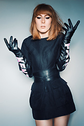 Lary Rauh - Cos Black Cotton Mini Dress, Cos Black Obi Belt, Kenzo X Hm Black Pink Leather Gloves - BACK with a BANG!