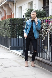 Henry & William Wade - Zara Denim Jacket, Asos Skinny Fit Knee Ripped Black Jeans, Serge De Nimes Loose Fit T Shirt, Superdry Suede Chelsea Boots, Hugo Boss Watch - Everyday smart/casual