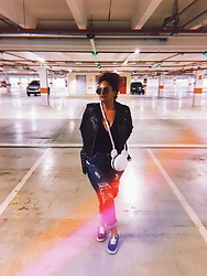 Camilla Soares - Zara Leather Jacket, Quintess Body, Melissa Mickey Mouse Purse, Renner Cutoff Boyfriend Jeans, Keds Sneakers - PERPLEXING PEGASUS