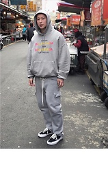 No Rehearsal - Balenciaga Cities Hoodie, Vintage Joggers With Long Laces, Vans X Purlicue Shoes Rework - 15. MARL