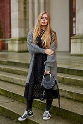 Marta Caban - Converse Shoes, Chloé Bag, Zaful Dress - BLACK GRAY