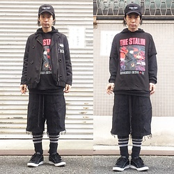 @KiD - (K)Ollaps Post Punk, Lowry's Farm Remake Jacket, The Stalin 虫, Code Crust Shorts, Air Walk The One - JapaneseTrash300