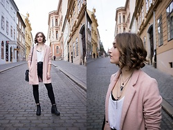 Paula Avalon - Primark Pink Coat - A touch of pink
