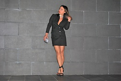 Nekane Smith - Stradivarius Blazer Dress, Prada Sandals Shoes - Code Night - Blazer Dress