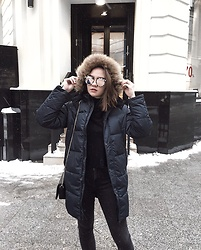Alina Ermilova - Junior Republic Blue Puffer Jacket - My Instagram Outfits