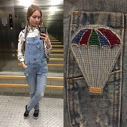 Lexa - Zara Overalls, My Hand Made Brooch - 133.