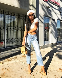 Shanell Holland - Forever 21 Beret, Gap Jeans - 90's Baby