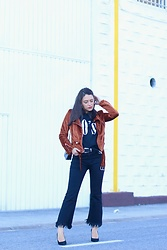 Natalia M - Zaful Velvet Jacket, Zaful 90s Shirt, Pull & Bear Cowboy Belt, Zaful Black Jeans - THE PERFECT JACKET
