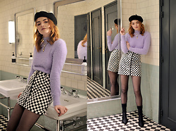 Hannah Louise - Checkerboard Skirt - Checkerboard Skirt