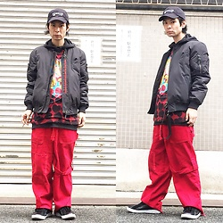 @KiD - (K)Ollaps Shoegaze, Komakino Bomber Jacket, Nirvana Heart Shaped Box, Code Red Wide Pants, Air Walk The One - JapaneseTrash317