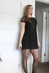 Cindy Batchelor - Chic Black Sleeve Lace Mini Dress $10 - Chic Black Lace Sleeve Mini Dress
