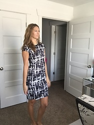 Cindy Batchelor - Chic Print Sheath Dress - Chic Print Sheath Dress