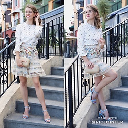 Heidi Landford - Zimmermann Top, Mimco Clutch, Forever New Shoes, Zimmermann Skirt - Pattern Play