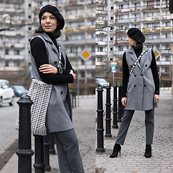 Minimalissmo .. - Zara Shopping Bag, Sterkowski Beret, Dezzal Vest - Grey shopping look