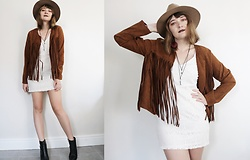 Lootsin Loots - Vintage Jacket, Lootsinfashion Dress, H&M Hat - Western dreams