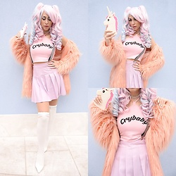 Marina Mavromati - Zaful Crybaby Crop Top, Rosegal Over The Knee Socks - -CryBaby Unicorn-