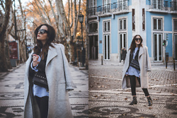Sara Meess - Zara Coat, Guess Bag, H&M Boots - Lisbon