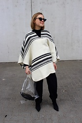 Anna Borisovna - Zara Poncho, Le Specs Sunglasses, Mango Bag, H&M Pants, Mango Shoes - Big Poncho on www.annaborisovna.de