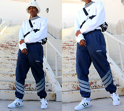 Dominic Grizzelle - Adidas Mock Neck Ls, Adidas Track Pants, Adidas Superstars - A NEW beat